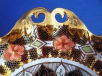 Royal Crown Derby Imari Pattern Low Comport or Footed Dish c1933